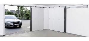 Puerta seccional de apertura lateral